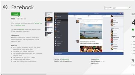 facebook windows8.1 - [PC] Facebook for Windows 8.1 đã ra mắt