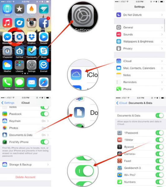 icloud 533x600 - [iOS] Cách lưu dữ liệu iOS 7 hiệu quả lên iCloud