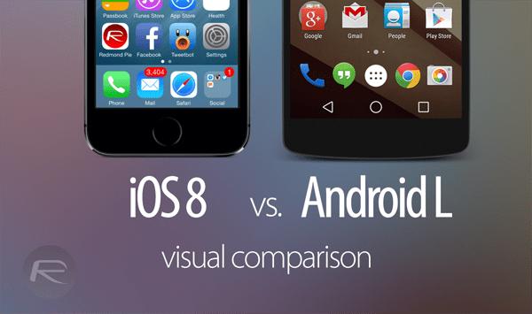 iOS 8 vs Android L visual main - iOS 8 và Android L: So sánh giao diện và tính năng qua hình ảnh